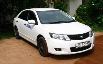Toyota Allion car hire Sri Lanka